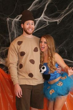 Cookie Monster Couple Costumes .