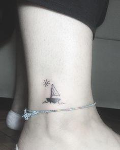 minimal sailboat tattoo                                                       …