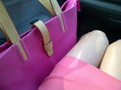 My skirt & bag is pink magenta
