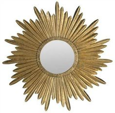 Evoking timeless French elegance, the Safavieh Josephine Sunburst Mirror recalls the grandeur of the Tuileries palace in Paris. Crafted of iron and wood artfully finished in antique gold, this mirror makes an intriguing statement in a living room or foyer Gold Frame Wall, Silver Wall Mirror, Mirror Wall Art, Candle Wall Sconces, Round Wall Mirror, Frames On Wall, Framed Wall, Mirror Mirror, Mirror Floor
