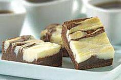BAKER'S ONE BOWL Cream Cheese Brownies recipe  The trick to making these brownies spectacular is to gently FOLD the ingredients together.  NEVER use a mixer :)