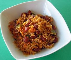 and Beans SOSCuisine: Mexican Rice and Beans : This quick and easy recipe is a great side dish for Huevos Rancheros and Fajitas.SOSCuisine: Mexican Rice and Beans : This quick and easy recipe is a great side dish for Huevos Rancheros and Fajitas. White Rice Recipes, Easy Rice Recipes, Bean Recipes, Side Dish Recipes, Vegetable Recipes, Vegetarian Recipes, Healthy Recipes, Huevos Rancheros, Rice With Beans