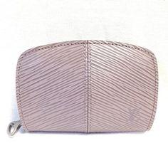 664c813786de Louis Vuitton Louis Vuitton  6278 lilac epi leather Monogram zip around  coin Wallet holder Pocket