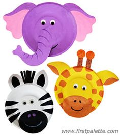 Easy Paper Plate Crafts | Paper Plate Animals Craft | Kids Crafts | FirstPalette.com