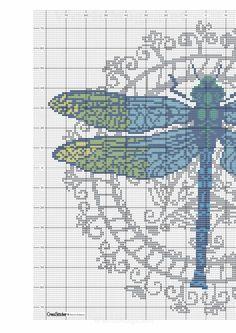 Dragonfly part 1 free cross stitch pattern Dragonfly Cross Stitch, Cross Stitch Love, Cross Stitch Animals, Cross Stitch Charts, Cross Stitch Designs, Cross Stitch Patterns, Needlepoint Patterns, Embroidery Patterns, Cross Stitching