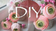 Ранункулюсы из гофрированной бумаги, цветы из бумаги DIY Tsvoric