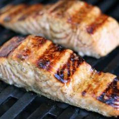 Glazed Salmon Olive Garden Soups, Mustard Salmon, Grilled Salmon Recipes, Glazed Salmon, Recipe Directions, Salmon Fillets, Original Recipe, Quick Easy Meals, Seafood