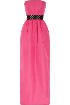 pink evening gown with polka-dot belt. Wish I had something to wear it to!
