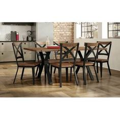 Table Seating, A Table, Dining Table, Wood Table Bases, Walnut Table, Solid Wood Dining Set, 7 Piece Dining Set, Kitchen Dining Sets, Counter Height Dining Sets