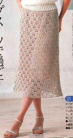 crochet tutorials Ivelise Hand Made: Skirt In Crochet! Beautiful Point…
