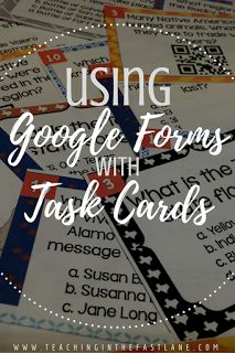 Have you ever tried using Google forms in your classroom? This step by step guide to creating a form to go with task card sets will change your life!