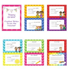 """""""Happy Grams""""- Printable positive notes to send home from the teacher. :-)"""