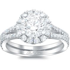 Double Shank Cushion Diamond Engagement Ring ($1,740) ❤ liked on Polyvore featuring jewelry, rings, accessories, engagement rings, diamond engagement rings, diamond jewellery, diamond jewelry and diamond rings