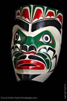 Chief Kumkawa Mask Lumario Johnson First Nations Artist Vancouver Island British Columbia Canada