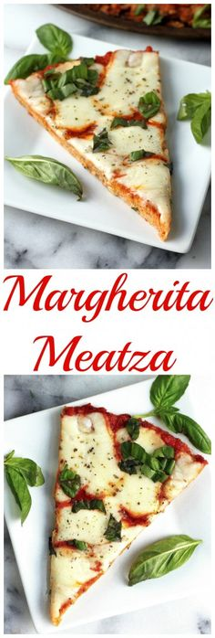 Margherita Meatza - All the flavor of a delicious Margherita Pizza minus the carb guilt! We LOVE this.
