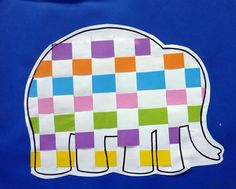 Elmer the Elephant weaving - with even more colors I think this would be fantastic for younger grades