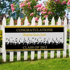 graduation banners ideas | Party Favors / Personalized Graduation Banners - Congratulations