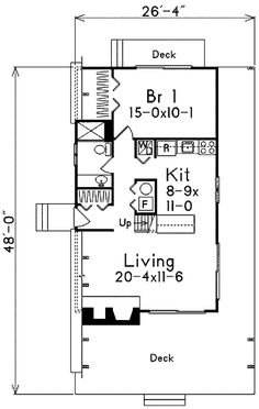 COOL house plans offers a unique variety of professionally designed home plans with floor plans by accredited home designers. Styles include country house plans, colonial, Victorian, European, and ranch. Cottage Style House Plans, Cottage Floor Plans, Cottage Style Homes, Country House Plans, Cottage Design, House Floor Plans, A Frame House Plans, House Plans And More, A Frame Cabin