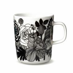 Marimekko Siirtolapuutarha Black / Turquoise Mug