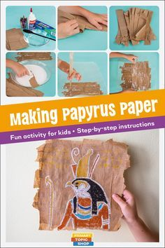 Making Papyrus Paper - activity for kidsYou can find Ancient egypt and more on our website.Making Papyrus Paper - activity for kids Ancient Egypt Lessons, Ancient Egypt Activities, Ancient Egypt Crafts, Ancient Egypt For Kids, Egyptian Crafts, Egyptian Art, Ancient History, Egyptian Tattoo, Egyptian Symbols