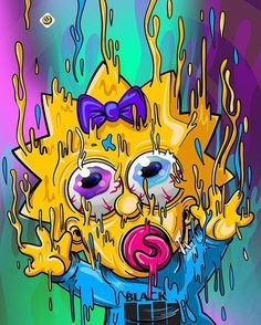 Melting Maggie, The Simpsons Simpson Wallpaper Iphone, Trippy Wallpaper, Graffiti Wallpaper, Cartoon Wallpaper, Graffiti Art, Simpsons Drawings, Simpsons Art, Trippy Cartoon, Cartoon Art