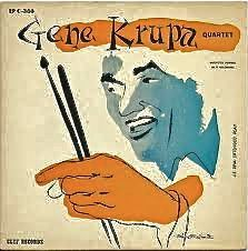 Gene Krupa Quartet, label- Clef MGC-668 (1955) Design- David Stone Martin