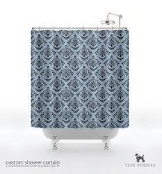 Damask Darth Vader shower curtain. Add some subtle geek to your bathroom.