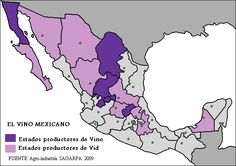 Wine Maps- Mexico Not may people realise that Mexico makes wine, but they do