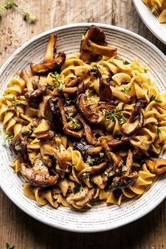 My vegetarian twist on a classic comfort food. Add classic egg noodles and in 30 mins you'll have a delicious meal. Fall Recipes, Dinner Recipes, Whole Foods 365, Pasta Recipes, Cooking Recipes, Cooking Tips, Butter Mushroom, Mushroom Pasta, Mushroom Food