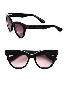 Marc by Marc Jacobs Cats-Eye Acetate Sunglasses, because I always need another pair of MJ glasses.  :\