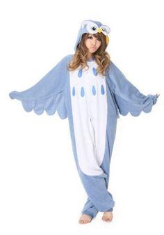 OMG!! Love it!   Amazon.com: Kigurumi Owl Animal Pajamas / Fancy Dress Owl Costume Kigurumi Adult Pajamas: Clothing