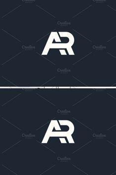 Monogram of Two letters A&R. Luxury, simple, minimal and elegant AR logo design. Logo Design Trends, Web Design, Identity Design, Brand Identity, Initials Logo, Monogram Logo, 3 Letter Logo, Trade Logo, Ar Logo
