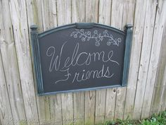 Tutorial to transform, upcycle, repurpose a headboard into a Chalkboard..