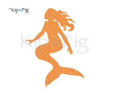 Mermaid applique template - also perfect for stencil, decals or paper crafts. £2.95, via Etsy. © Kip & Fig 2012