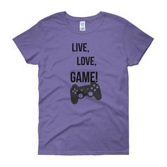 WOMEN'S FIT LIVE, LOVE, GAME TEE - Thumbnail 3