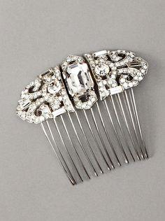 Nina Women's Caroline Swarovski Crystal Hair Comb, Silver, http://www.myhabit.com/redirect/ref=qd_sw_dp_pi_li?url=http%3A%2F%2Fwww.myhabit.com%2Fdp%2FB00553KMKA%3Frefcust%3DDIILGQRUK7A2XPOT6V6LG32KXU