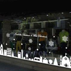 stickers noeux de noel idee decoration de noel vitrophanie magasin vitrine adhesif8 projets 224
