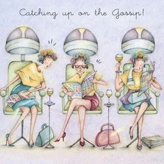 Cards » Catching up on the Gossip » Catching up on the Gossip - Berni Parker Designs