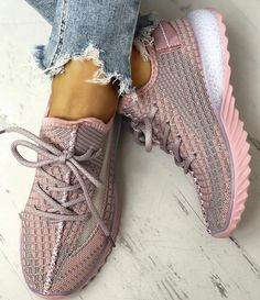 Women Slip On Knitted Air Cushion Shoes Casual Sports Comfy Train Sock Sneakers