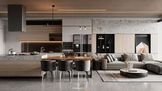 Modern Townhouse Interior, Small Apartment Interior, Modern Interior, Home Room Design, Interior Design Kitchen, Living Room Designs, Small Living Rooms, Luxury Home Decor, Kitchen Living