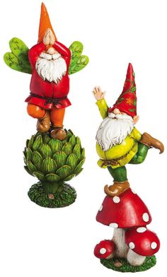 Evergreen Enterprises Vegetable Gnome Garden Statue   Set Of 2   Find Your  Funny Bone With The Adorable Evergreen Enterprises Vegetable Gnome Garden  Statue ...