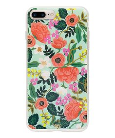 Rifle Paper Co iPhone 7 Plus Hard Case Mint Floral Everyday Protective Cover: This Rifle Paper Co. Mint Floral iPhone 7 Plus case has a rubber bumper and a hard outer shell. This option provides protection without too much bulk. Iphone 7 Covers, Iphone 7 Phone Cases, Floral Iphone Case, Iphone Hard Case, Iphone 7 Plus Cases, Cellphone Case, Textiles, Rifle Paper Co, Ipad Mini