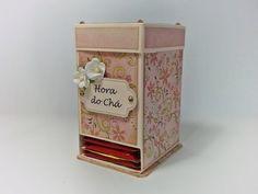 DIY   Tutorial - Caixa para Chá - Tea Bag Dispenser Box - YouTube