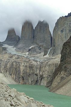 Las Torres at Torres del Paine National Park, Patagonia, Chile. Places Around The World, Travel Around The World, Around The Worlds, Places To Travel, Places To See, Wonderful Places, Beautiful Places, Exploration, All Nature
