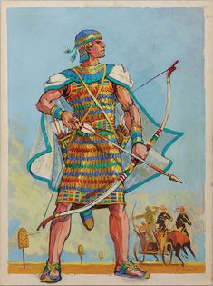 Edith Head - Esquisse et Croquis - Costumière - Les Dix Commandements - 1956 - Yul Brynner - Ramsès II Ancient Near East, Ancient Art, Ancient Egypt, Greek Pantheon, Modern History, Dark Ages, Historical Pictures, Les Oeuvres, Character Inspiration