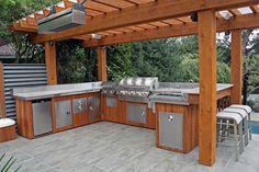 beautiful stainless outdoor kitchen