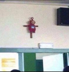 Here lies Po, she died for our sins like God