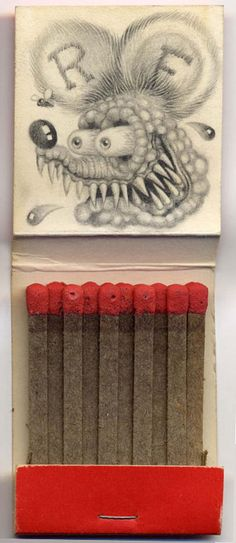 Art on match book covers by artist Jason D'Aquino http://www.jasondaquino.com/matchbook_gallery4.html#