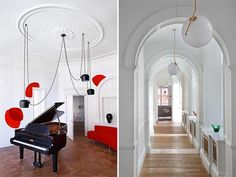 piano-de-cola-sofa-rojo-formas-redondeadas
