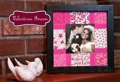 Valentines : Fabric wrap photo Mattes